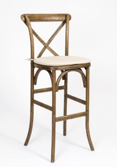 Rental store for Chair Barstool Pilgrim Crossback Rustic in Tulsa OK