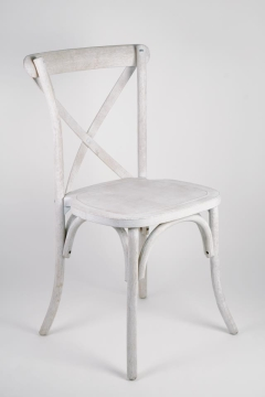 Rental store for White Wash Crossback Chair in Tulsa OK