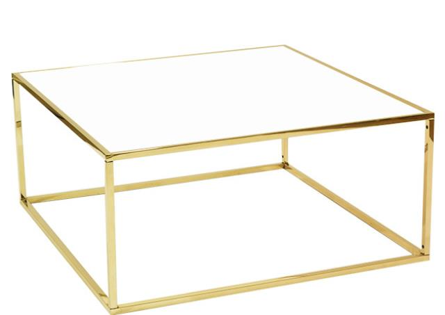 Where to find Carleton Gold   White Frame Table in Tulsa