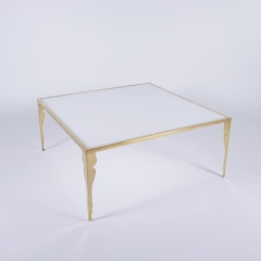 Rental store for Carleton Gold   White Silhouette Table in Tulsa OK