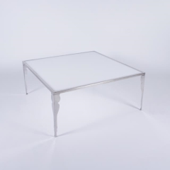 Rental store for Carleton SS   White Silhouette Table in Tulsa OK