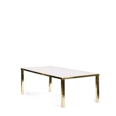 Rental store for METROPOLITAN GOLD   WHITE TABLE in Tulsa OK