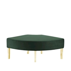 Rental store for EMERALD   GOLD KINCAID CURVE OTTOMAN in Tulsa OK