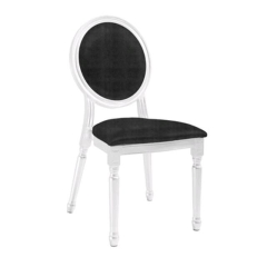 Rental store for LOUIS XV WHITE W BLACK CHAIR in Tulsa OK