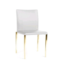 Rental store for DELANO GOLD   WHITE CHAIR in Tulsa OK