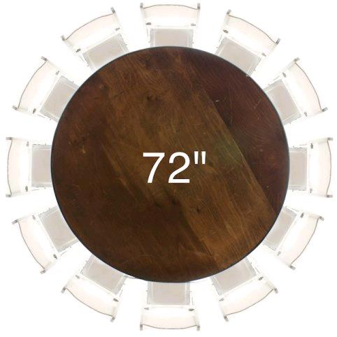 Where To Find Table 72 Round Wood In Tulsa