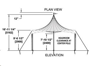 Tent 20 Foot Triangle Marquee Frame Rentals Tulsa Ok