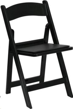 Rental Store For Chair Black Resin In Tulsa OK