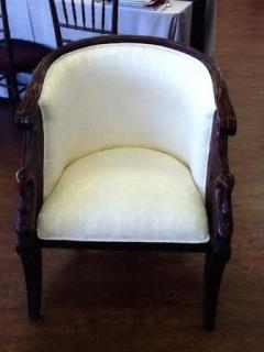 Rental Store For Furniture Vintage Ivory Swan Chair In Tulsa OK