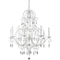 Rental store for Chandelier White Crystals Large 32Wx37H in Tulsa OK
