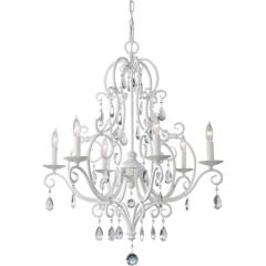 Rental store for Chandelier White Crystals Small 25Wx30L in Tulsa OK