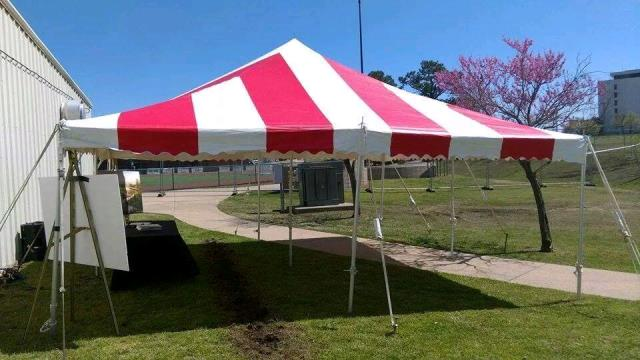Where to find Tent 20x20 Red White Stripe Pole in Tulsa & TENT 20X20 RED/WHITE STRIPE POLE Rentals Tulsa OK Where to Rent ...