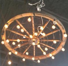 Rental store for Chandelier Wagon Wheel Small in Tulsa OK