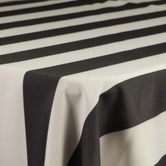 Rental store for BLACK AND WHITE WIDE STRIPE POLYESTER in Tulsa OK