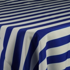 Rental store for ROYAL BLUE AND WHITE STRIPE POLYESTER in Tulsa OK
