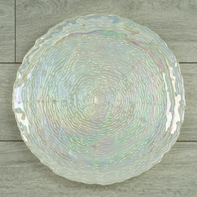 Where to find Charger Pearl Iridescent Glass in Tulsa