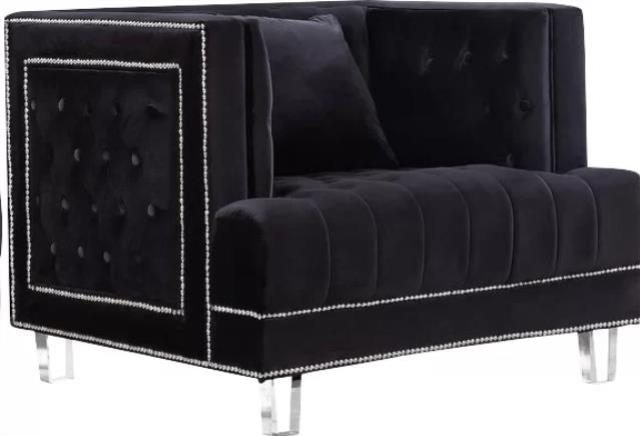 Where To Find BLACK CHESTERFIELD ARMCHAIR In Tulsa