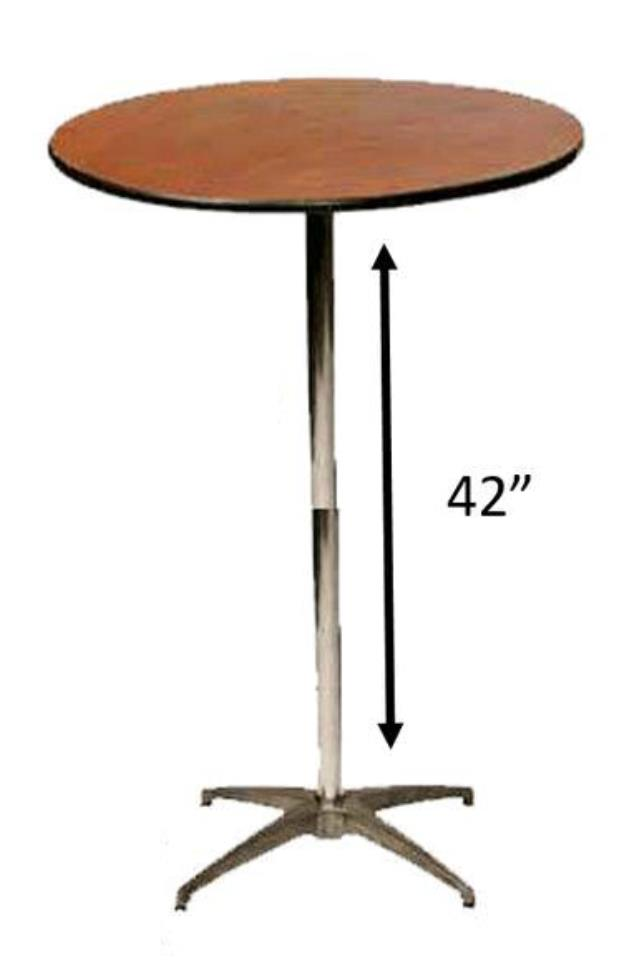 Where To Find 30 ROUND TALL BISTRO TABLE In Tulsa