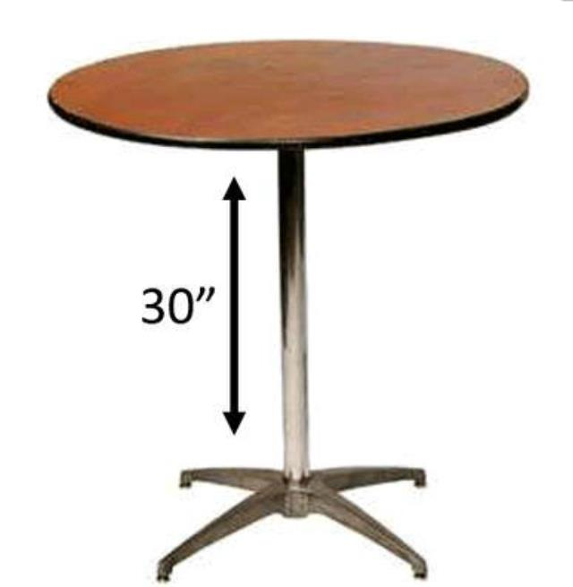 Where To Find 36 ROUND SHORT BISTRO TABLE In Tulsa